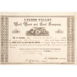 Lykens Valley Rail Road & Coal Stock   (84926)