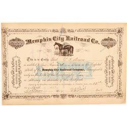 Memphis City Railroad Co. stock   (101392)