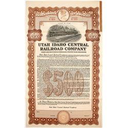 Utah Idaho Central Railroad Bond   (84116)