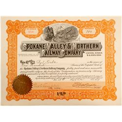 Spokane, Valley & Northern Railway Company Stock   (84145)