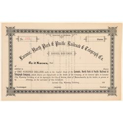 Laramie, North Park & Pacific Railroad & Telegraph Co   (104673)