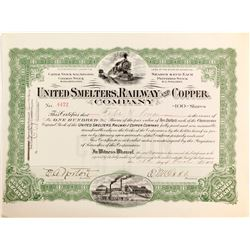 United Smelters, Railway and Copper Company Certificate   (84120)