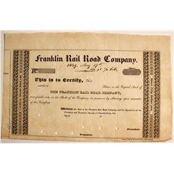 Franklin Rail Road Co Capital Stock   (75808)