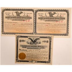 Georgia Railroad stock (1) & bonds (2)   (105195)