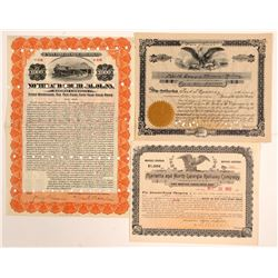 Georgia, N & S Carolina bonds & Georgia RR   (105194)