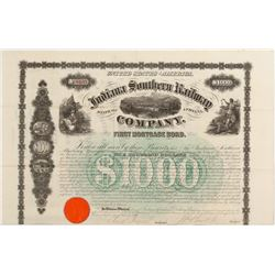 Indiana Southern Railway Co 1st Mortgage Bond   (106427)