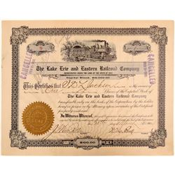 Lake Erie and Eastern Railroad Company stock   (105157)