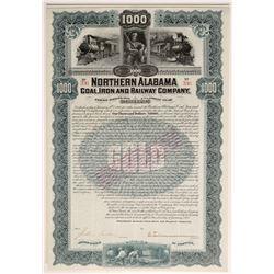 Northern Alabama Coal, Iron and Railway Co bond   (106439)