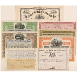 Pennsylvania Railroad stock / 2nd Mortgage loan   (105162)