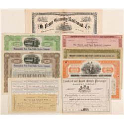 Pennsylvania Railroad stock / 2nd Mortgage loan   (105162)