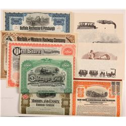Railroad collection of 6 bonds   (106435)