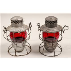 Railroad Lamps (Set of 2, Vintage)   (106001)
