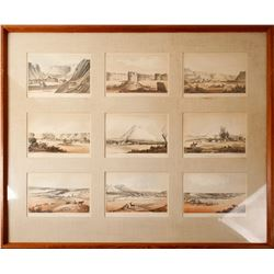 Railroad Survey Prints of the West, Framed   (84837)