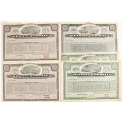 Reading Company Rail Road Stocks (Specimens)   (78753)