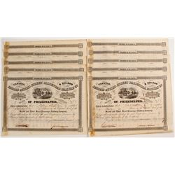 Second & Third Street Passenger Railway Company Stock Certificates   (78766)