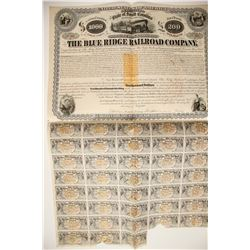 Blue Ridge Railroad Bond  three RNs   (85763)