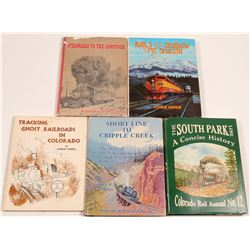 Western States Railroad Books (5)   (106375)