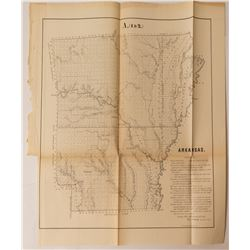 1855 Arkansas Map   (54327)