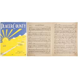 """Placer County"" Sheet Music   (88244)"