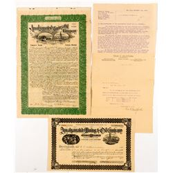 Murchie, Amalgamated, Empire, California & New York Oil, etc. Letter and Amalgamated Oil Stock   (55