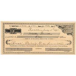 Rocklin Driving Park Association (Horse Racing) Stock Certificate   (104397)