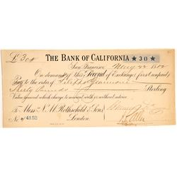 Second of Exchange Bank of California for NM Rothschild & Sons   (106497)