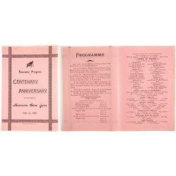 San Jose Centenary Anniv. Program, 1897   (88845)
