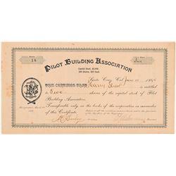 Pilot Building Association Stock Certificate   (104361)