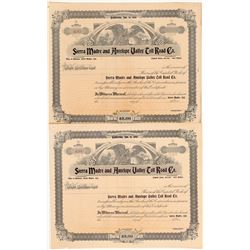 Sierra Madre & Antelope Valley Toll Road Co. Stock Certificates   (104224)