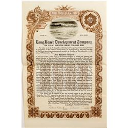 Long Beach Development Company Certificate   (52673)