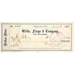 Rare Wells Fargo Check   (83304)