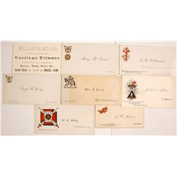Vintage California Business & Fraternal Cards   (77553)