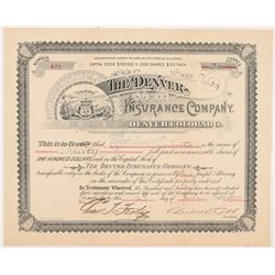 Denver Insurance Company Stock Certificate   (104427)