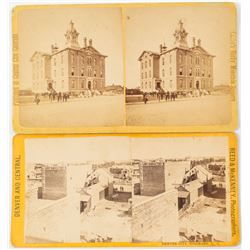 Early Denver Stereoviews (2 count)   (53249)