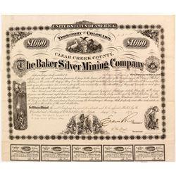 Extra Rare Baker Silver Mining Company    (55036)