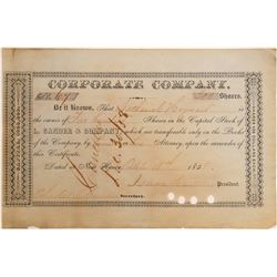 Stock Cert. L. Candee & Company   (105722)
