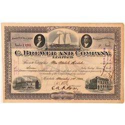 C. Brewer & Company, Ltd. Stock Certificate   (107286)