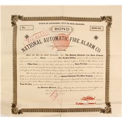 Bond of National Automatic Fire Alarm Co.   (76266)