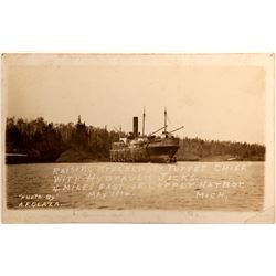 Post Card/ Shipwreck/ Michigan   (105053)