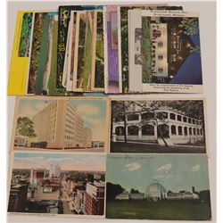Post Cards / Buildings In Michigan n Texas / 24 Items   (105380)