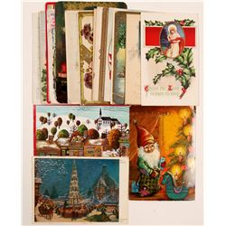 Post Cards / Holiday cards / Christmas & New Years.  24 Items.   (105376)