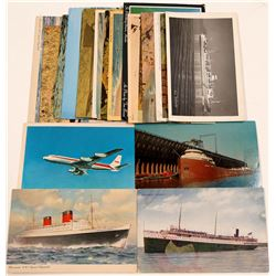 Postcards/ Beaches, Harbors, Plains & Ships  22 items   (105383)