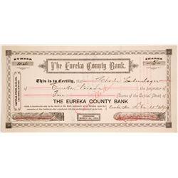 Eureka County Bank Stock Certificate   (74077)