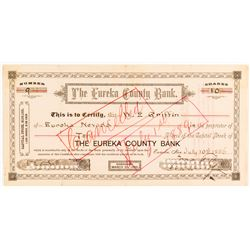 Eureka County Bank Stock Certificate   (54368)