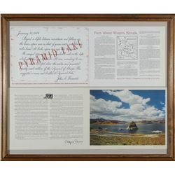 Framed Pyramid lake, NV Facts and Photo   (87633)