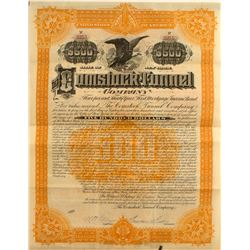 The Comstock Tunnel Company Bond   (50006)