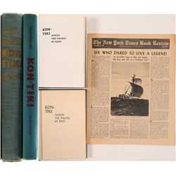 "Book / "" Kon-Tiki"" / By Thor Heyerdahl / 3 Items.   (106242)"