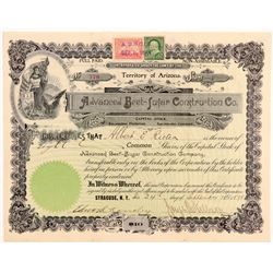 Advanced Beet-Sugar Construction Co. Stock Certificate   (107147)