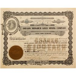 Oregon Monarch Gold Mining Stock   (72059)