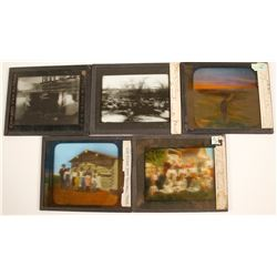 Montana, North & South Dakota Glass Slides (5)   (76822)